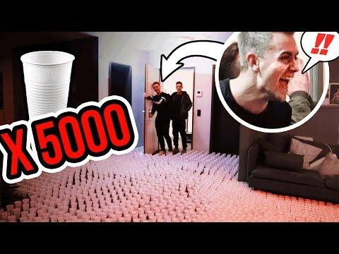 Download Youtube: 5000 Becher Wohnung Prank !