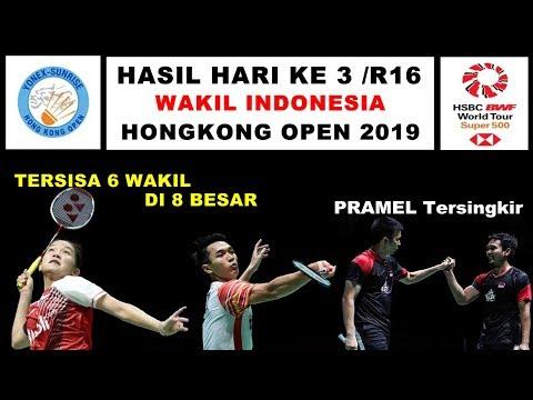 Hasil Hong Kong Open 2019 Hari Ke 3 /R16 ~ PRAMEL Tersingkir