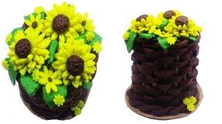 DIY Sunflower Cake with PlayDoh Sparkle - Learn how to make Sunflower Cake with PlayDoh Sparkle