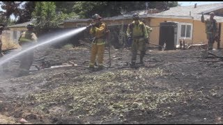Firefighters Save Homes In Modesto, California - Modesto Regional Fire Authority
