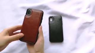 Sale Retro iPhone X PU Leather Case iPhone 8 7 6 6s Plus Case Card