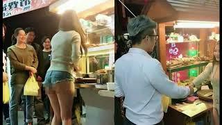 gadis penjual daging di taiwan tanpa busana