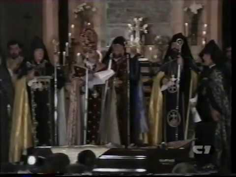 Armenian church Funeral services for His Holiness Karekin I. Part 1 of 5