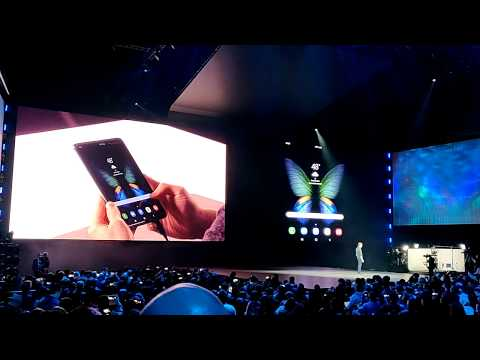 Samsung Galaxy Fold Live Demo From Unpacked 2019! - HotHardware