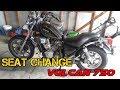 Seat Change - Kawasaki Vulcan 750