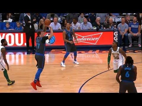 Luka Doncic Schools Kyrie Irving to Beat the Buzzer - Celtics vs Mavericks | November 24, 2018