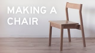 Making a Chair from Oak 1x4's