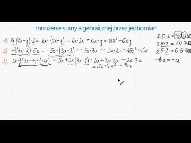 mno?enie sumy algebraicznej przez jednomian - 2