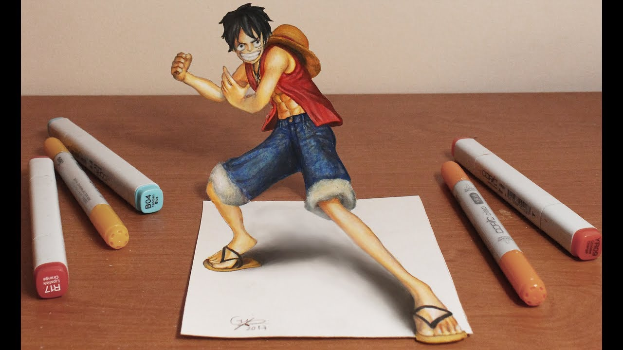 3d drawing luffy one piece youtube. Black Bedroom Furniture Sets. Home Design Ideas