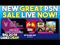 New Great PSN Sale Live Now! - Big 2018 PS4 Games Cheap!