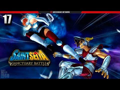 Cavaleiros do Zodíaco: Batalha do Santuário - PS3 - #17 - Seiya VS Marin e Shaina Negras