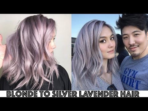 Blonde to Silver Lavender Hair Transformation
