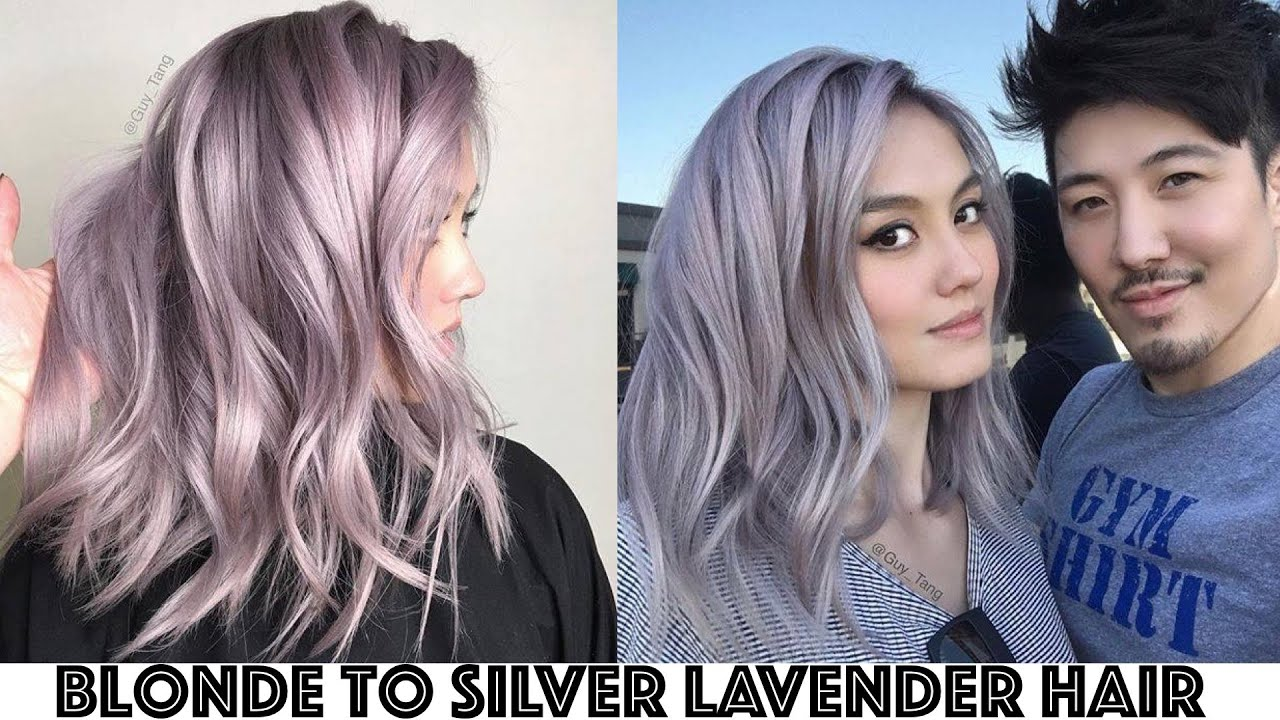 Blonde To Silver Lavender Hair Transformation Youtube