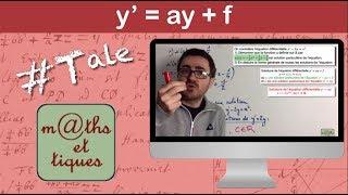 Résoudre une équation différentielle du type y'=ay+f - Terminale