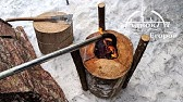 Heating а Tent with a Log Torch