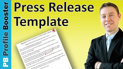Press Release Template - A Guide to Writing Press Releases