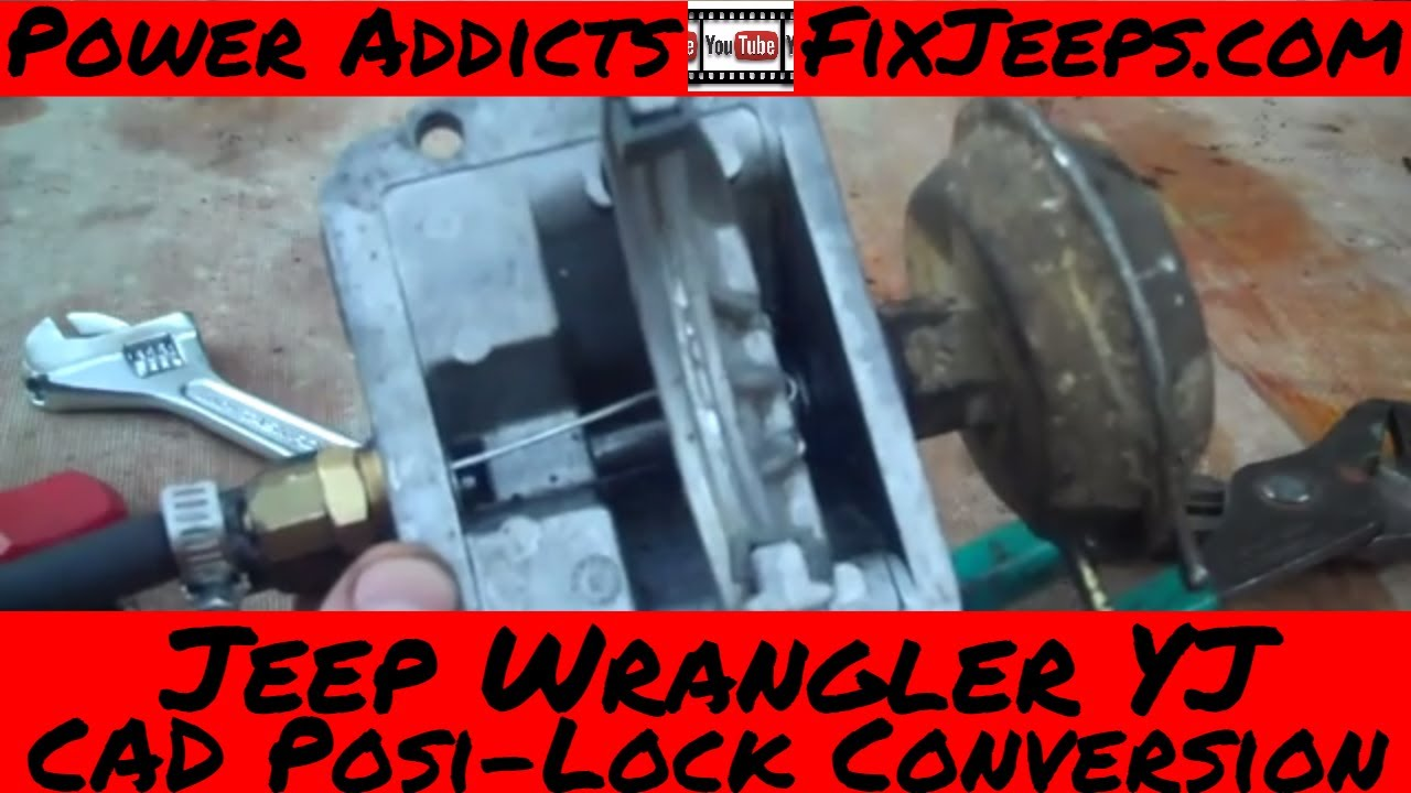 diy jeep wrangler yj posi lock diff conversion [ 1280 x 720 Pixel ]