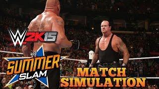 brock lesnar vs the undertaker wwe summerslam 2015 wwe 2k15 match simulation