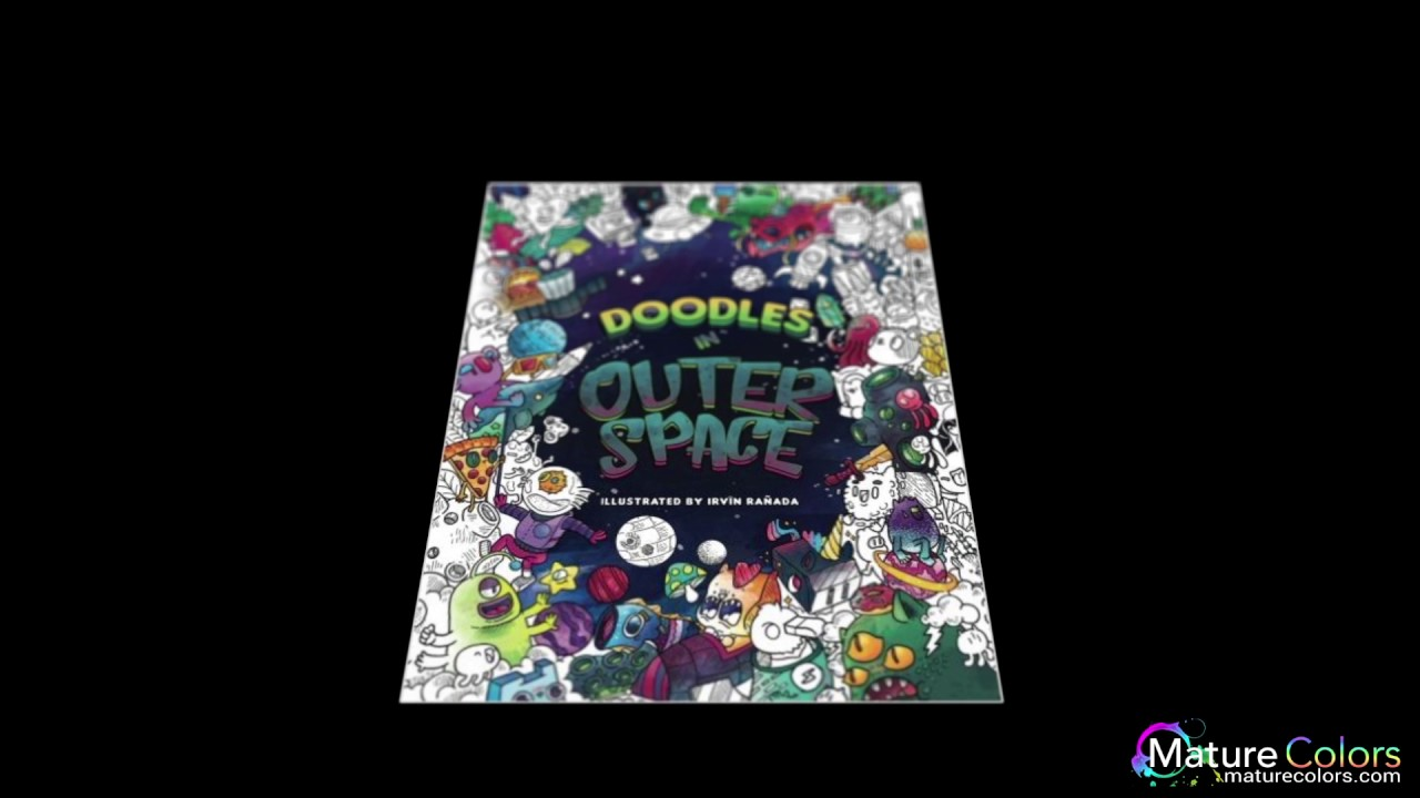 doodles in outer space adult coloring books relax on an intergalactic journey through the univers
