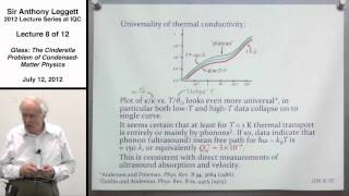 Glass: The Cinderella Problem of Condensed-Matter Physics (Lecture 8) - Anthony Leggett 2012