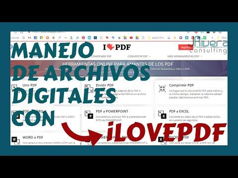 💥 Como usar iLovepdf para unir, separar y comprimir archivos digitales pdf [GRATIS]