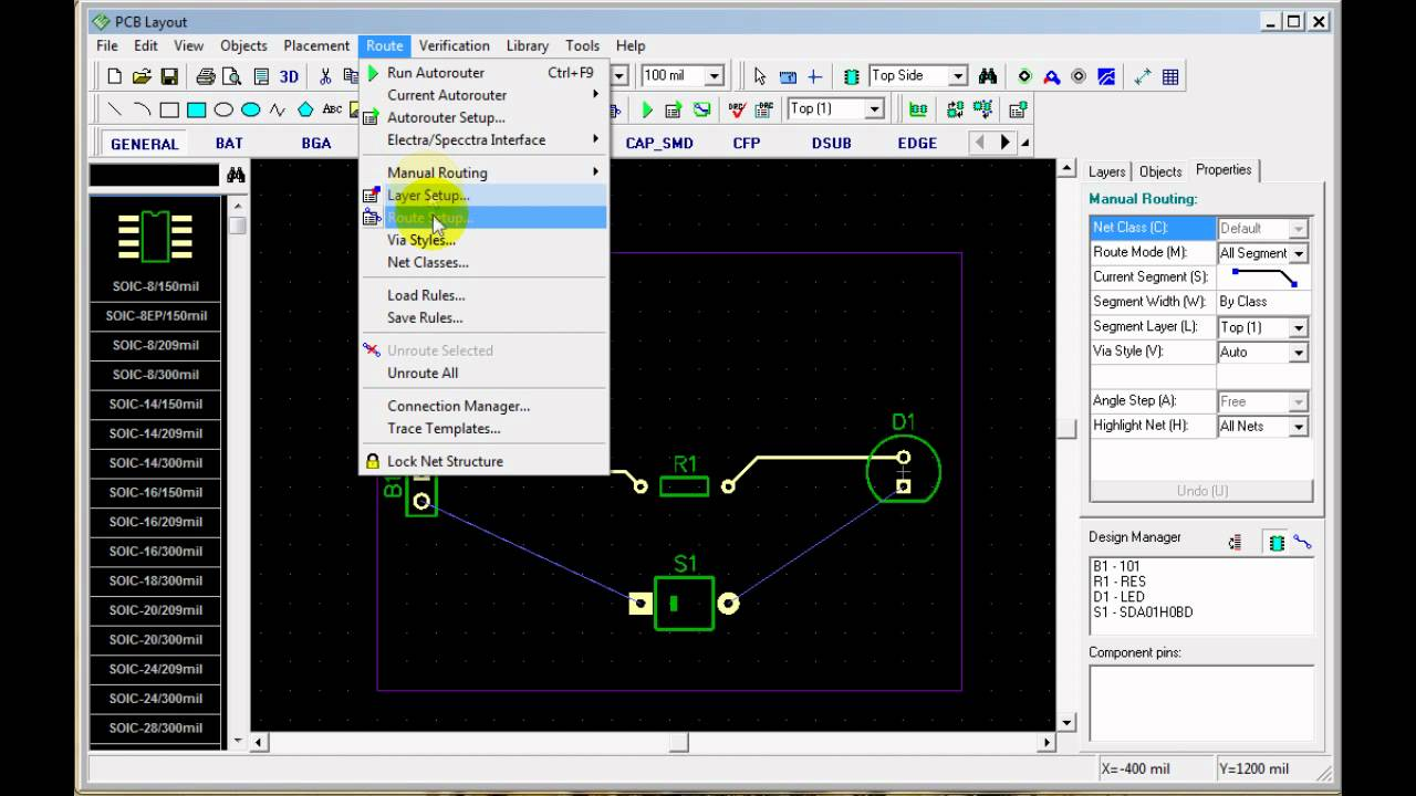 How to convert a schematic to a PCB Layout with PCB Creator
