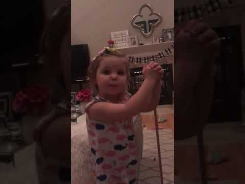 Aaron Michael - 3-year-old girl puts boy in headlock after he proposed to her!