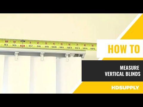 How To Measure Vertical Blinds - HD Supply FM