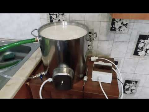 Пастеризация молока в новой сыроварне на 18 литров. Варим сыр из пастеризированного молока