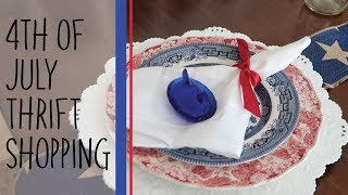 THRIFT SHOPPING| FOURTH OF JULY DECOR | The Hebert House