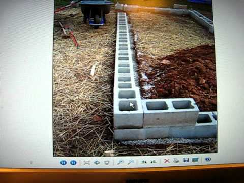 Raised Bed Garden Using Cinder Blocks And Hoophouse Video
