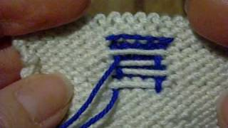 Repeat youtube video Jacquard tejido con agujas.wmv