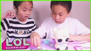 LOL Surprise Biggie Pets Families! Mom Bunny With 15 Surprise Toys For Kids