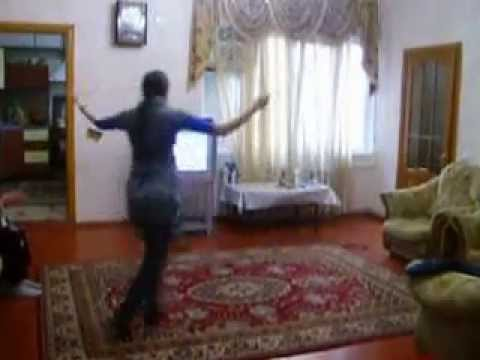 Azerbaijan girl dancing at home