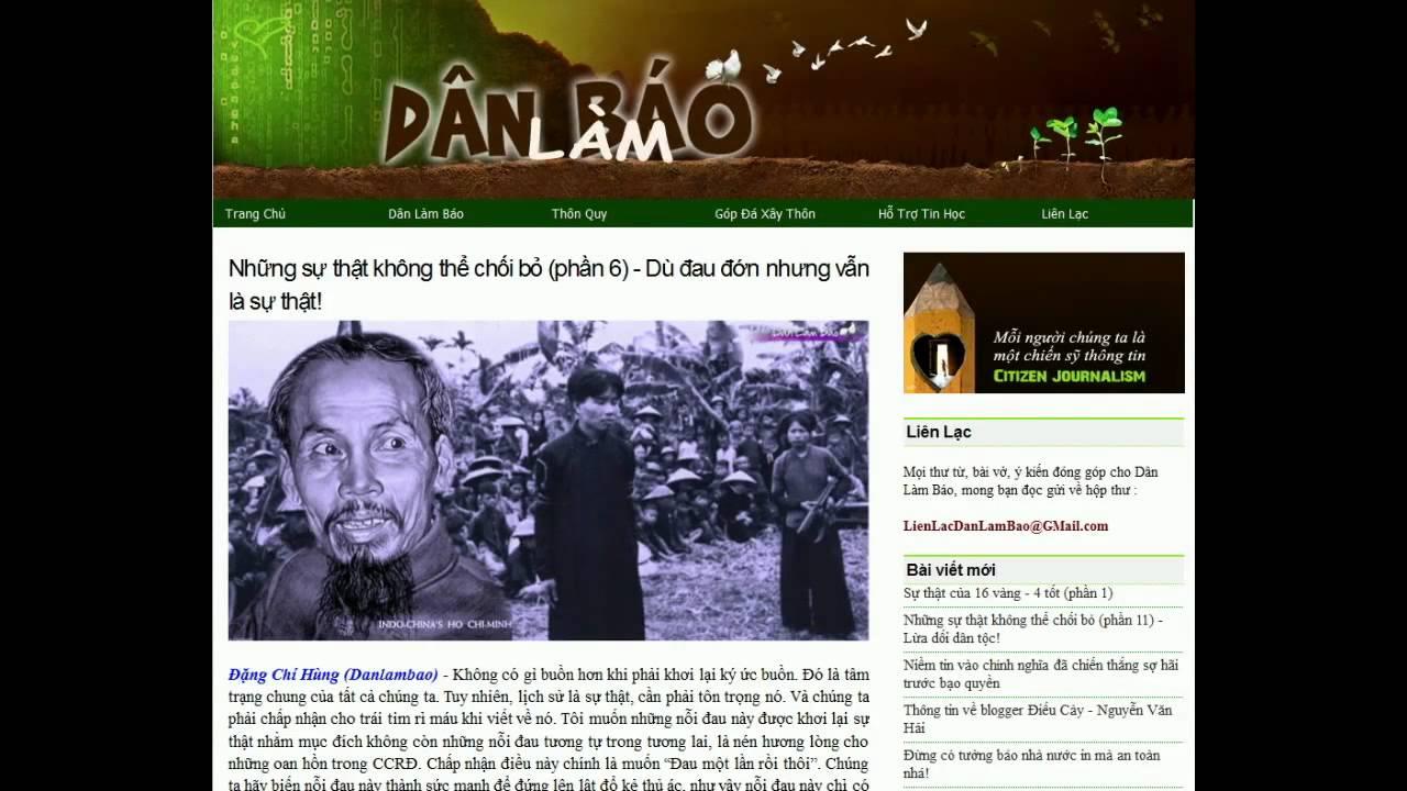 20062012 Dân Làm Báo đặng Chí Hùng Những Sự Thật Không Thể