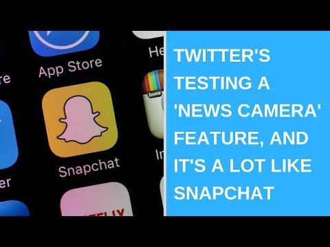 Twitter's testing a 'News Camera' feature, and it's a lot like Snapchat
