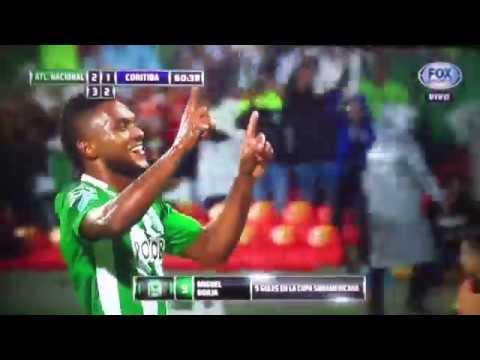 Download Gol de chilena de MIGUEL ANGEL BORJA -  Atletico Nacional vs Coritiba 3-1 COPA SUDAMERICANA