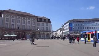 Spaziergang in Kassel durch die City , Hafen, Brücke und Parkanlagen