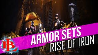 Destiny Rise of Iron COMPLETE ARMOR SETS Trials Raid Iron Banner Iron Lord Hunter Titan Warlock