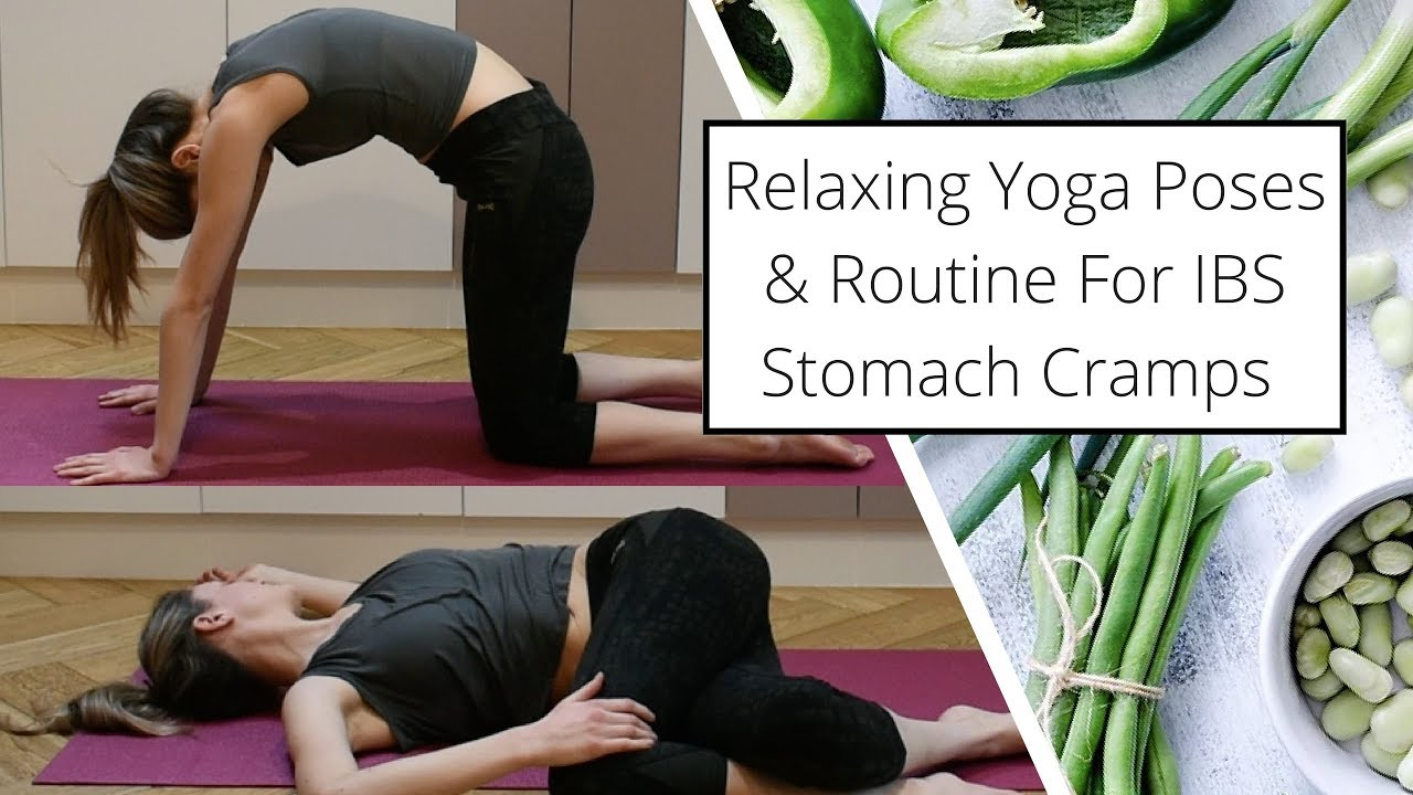 Easy Yoga Routine Poses For Ibs Stomach Cramps Youtube