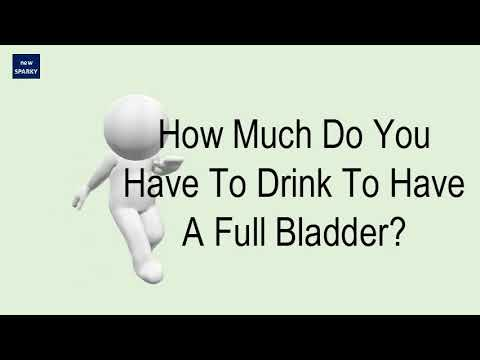 How Much Do You Have To Drink To Have A Full Bladder?