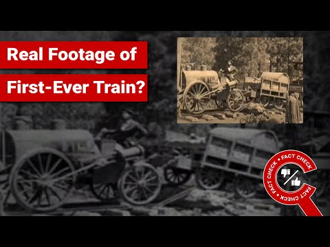FACT CHECK: Does Video Show Real Footage of First-Ever Train from 1809?