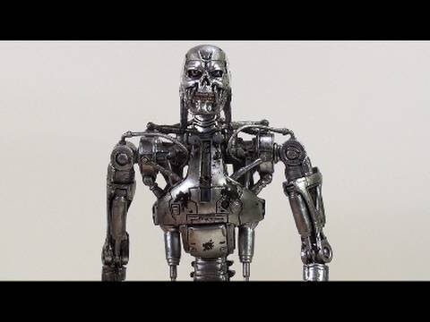 T 800 Terminator Video Review of the NECA Terminator 2 Judgment Day Series 2; T-800 ...
