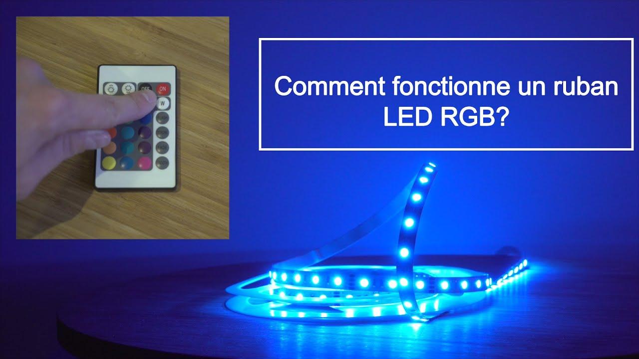 comment fonctionne un ruban led rgb ou ruban led changement de couleur youtube. Black Bedroom Furniture Sets. Home Design Ideas