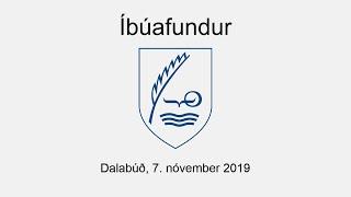 Íbúafundur haldinn fimmtudaginn 7. nóvember kl. 20.00 í Dalabúð. Dagskrá fundarins: 1. Kynning á fjárhagsáætlun Dalabyggðar 2020 – 2023. 00:02:05 2.