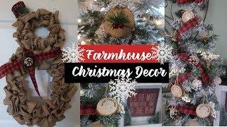 DIY Dollar Tree Christmas Farmhouse Decor | Rustic Christmas Decor | BurlapFabric.com Supplies