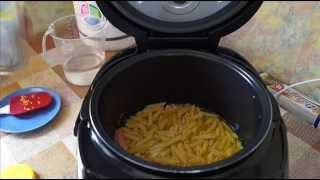 Домашние видео рецепты - макароны с колбасой в мультиварке