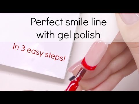 How to: Create perfect smile line with gel polish-French manicure tutorial