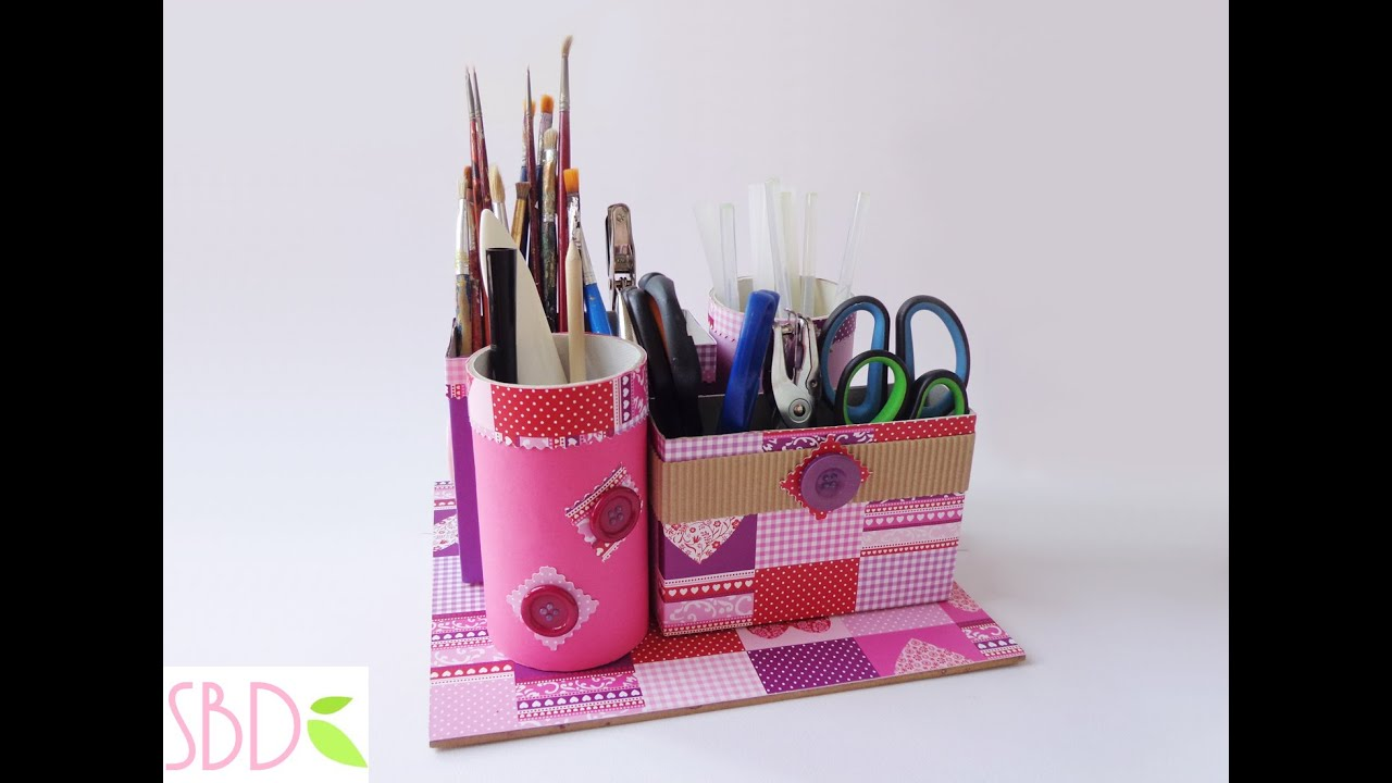 Favoloso Tutorial: Porta oggetti con Riciclo - Objects holder with recycle  AL55