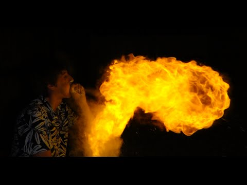 Thumbnail: Breathe Fire and make Giant Fireballs with Cornstarch!